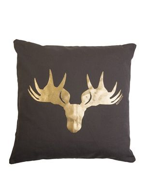 Barfota spring/summer 2014 Pillow canvas moose www.barfota.no