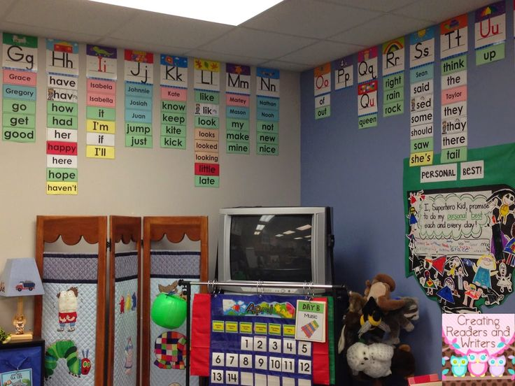 Creating Readers and Writers: My First Grade Word Wall Great idea for making a word wall even more of a usable resource for kids!
