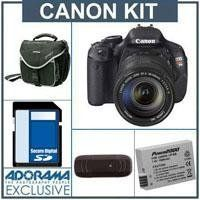 Canon EOS Rebel T3i Digital SLR Camera/ Lens Kit, with EF-S 18-135mm f/3.5-5.6 IS Lens, 8GB SD Memory Card, Slinger Camera Bag,Spare LP-E8 Lithium-Ion Rehargeable Battery, USB 2.0 SD Card Reader FREE: Red Giant Adorama Production Bundle for PC/Mac a .... $858.99. Photographers looking for an easy-to-use camera that will help them create their next masterpiece need look no further than the Canon EOS Rebel T3i. The next in a long line of phenomenal compact DSLRs, the EO...