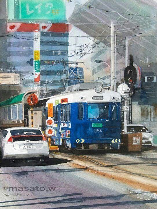 Masato Watanabe, watercolor