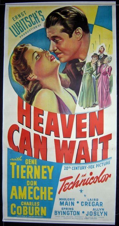 MovieArt Original Film Posters - HEAVEN CAN WAIT (1943) 402, $850.00 (http://www.movieart.com/heaven-can-wait-1943-402/)