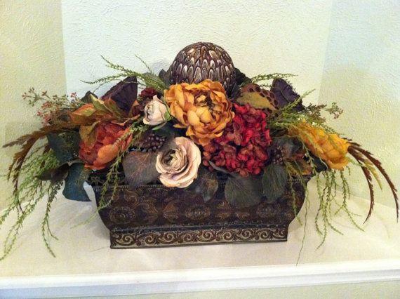 Long Table Centerpiece   Large Silk Floral Arrangement   Designer Floral  Arrangement On Etsy, $160.00