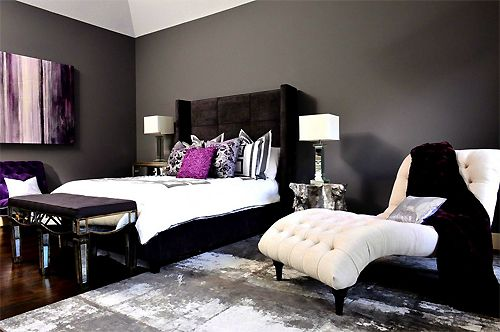 Gray Bedroom With Purple Accents the 8 best images about grey walls on pinterest | ribs, country