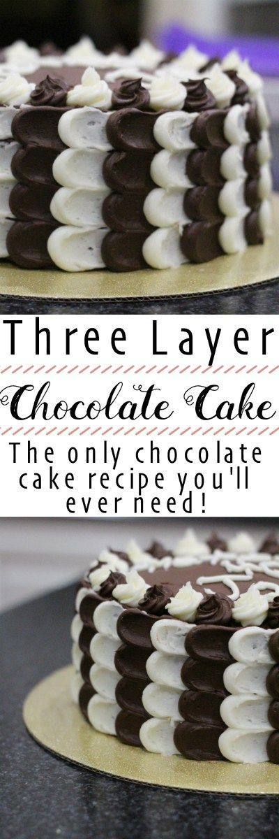 This Three Layer Chocolate cake is the best chocolate cake you'll ever make. (can be made Gluten-free)