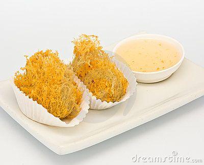 Fried taro with chicken