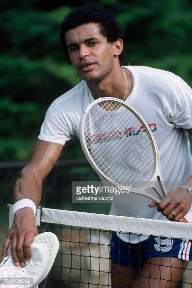 News Photo : Tennis player Yannick Noah on vacation in the...