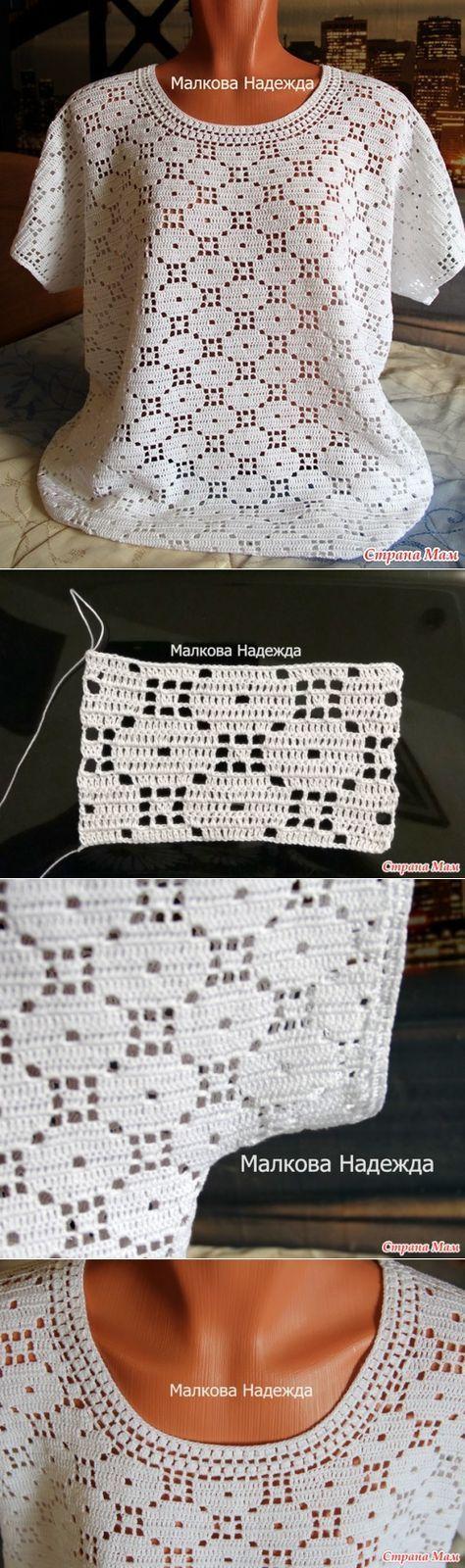 Letras e Artes da Lalá: Blusas de crochê (com receitas - fotos: google)
