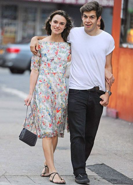 English actress, Keira Knightley with her musician husband James Righton (plays keyboard for rock band Klaxons)