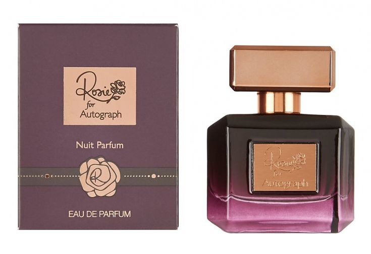 Marks and Spencer Rosie for Autograph Nuit Parfum ~ Top notes: bergamot, peony, blackcurrant Heart: rose, jasmine, freesia, lily of the valley Base: musk, violets, woods