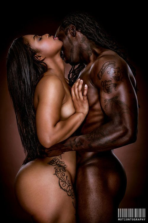 Nude black couples