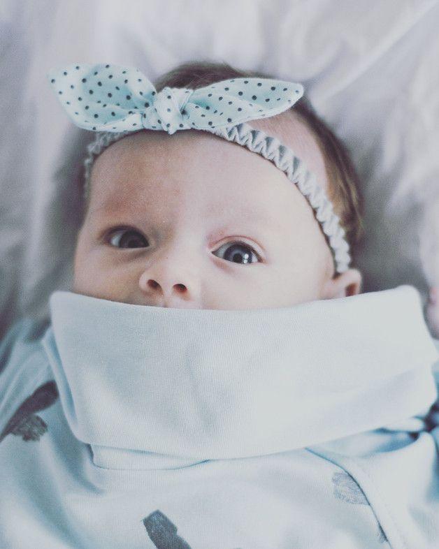 OPASKA PIN UP MINT - nonino-handmade - Opaski dla niemowląt