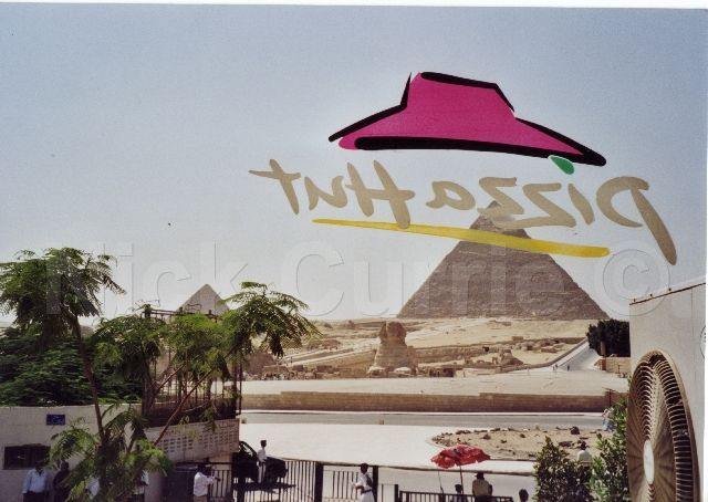 Egyptian Pyramids at Giza - Aren't In The Middle Of Nowhere
