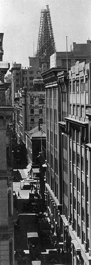 Flinders Lane, Melbourne, late 1920s