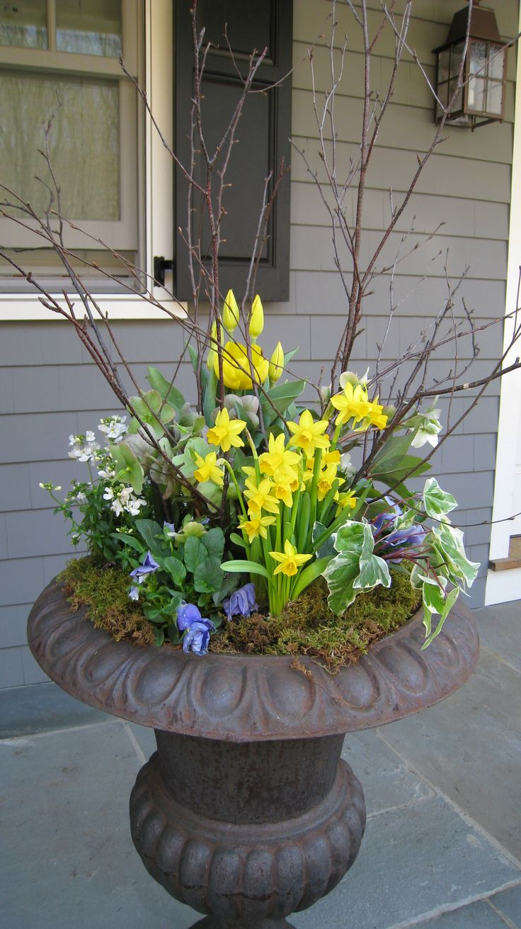 This would look lovely with pussy willows or red twig dogwood branches - Think Spring!