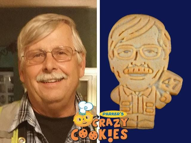 Honoring an employee's many years of service is a snap when you contact Parker's Crazy Cookies. We'll make them into  beautifully designed cookies...so fun for the recipient...and a yummy treat for all their co-workers and friends.