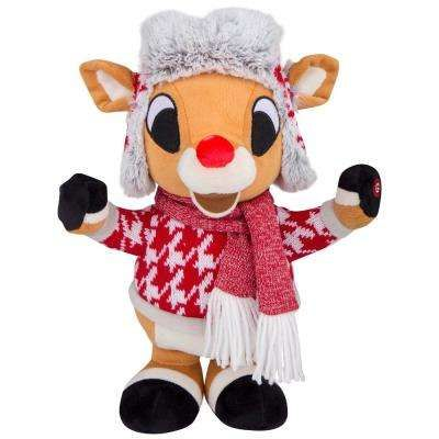 6bce3a3c7c4c1 Side Stepper Plush Animatronic-Rudolph in Red and White