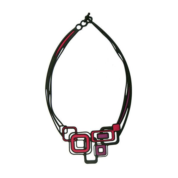 Batucada Pythagore Necklace - Purple / Red $49.95 #leethal #accessories #fashion
