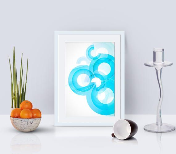 abstract circle print, modern print, geometric poster