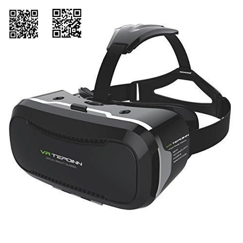 Tepoinn Second Version 3D VR Glasses 3D Virtual Reality Headset Much Lighter VR Goggles Asynchronous Adjust 2rd Generation VR Box VR Glasses(No External Remote Needed)