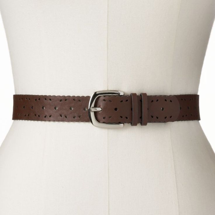 Relic Scallop Perforated Belt, Size: MEDIUM (Brown) | 40% OFF