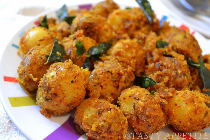 Baby Potato Fry / Spicy Urulai Roast | Tasty Appetite
