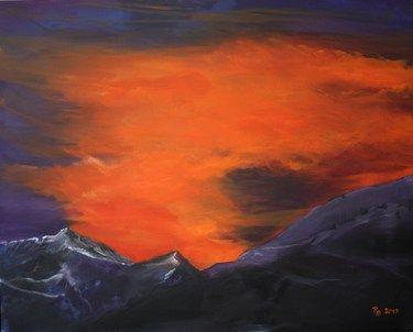 """Saatchi Online Artist Roswitha Schablauer; Painting, """"Sunset"""" #art"""