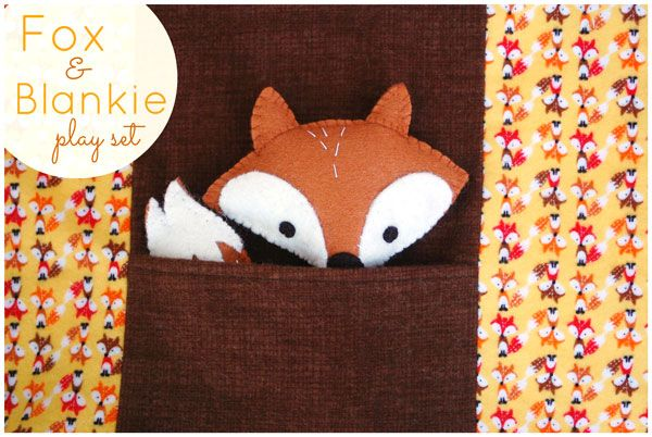 I designed this free pattern for a Fox and Blankie Play Set for Timeless Treasures fabrics. Head over to their blog to get the free download!