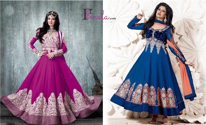 Shop online from latest & beautiful collection of Anarkali suits, Long Anarkalis & Salwaar kameez online at fmela.com