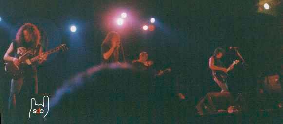 Instant del concert a l'Escala el 28 d'Agost del 1999.