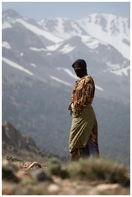 A berber woman, Atlas Mountains, Morocco by Ray Wakefield