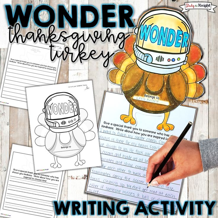 Thanksgiving | Writing | This FREE Thanksgiving writing activity and your Wonder novel or Wonder movie unit just got fun! Your students will love their turkeys in disguise wearing an astronaut's helmet like the beloved main character, Auggie. Giving thanks, choose kindness, and building a classroom community around Thanksgiving and Wonder or We're All Wonders book study will bring enthusiasm to your reading and writing lessons. #wonder #thanksgiving #ChooseKind