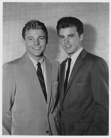 Ricky Nelson & brother David. What clean cut, All American boys!