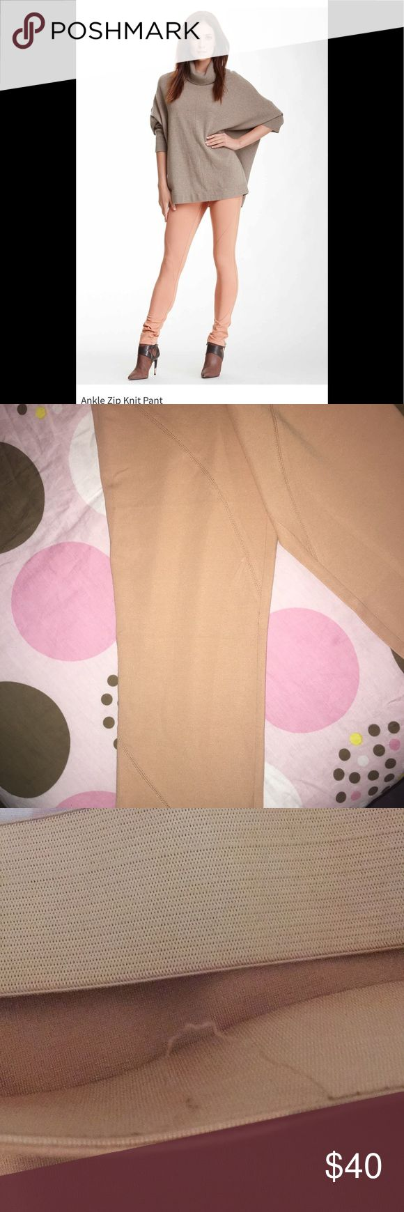 NWOT Thalian Ankle Knit pants Sz.14 These beautiful soft peach Pants are stylish and prefect for this weather. ❗️THESE PANTS ARE NEW WITHOUT TAG❗️THE THREADING AT THE WAIST IS COMING LOOSE HOWEVER CAN BE REPAIRED ❗️PURCHASED TWO YEARS AGO HOWEVER TOO BIG FOR ME. IM TALL BUT FINDING CLOTHES THAT ACCOMMODATE MY HEIGHT IS SUCH A DRAG. SO MY LOSS AND YOUR GAIN. Thalian Pants Ankle & Cropped