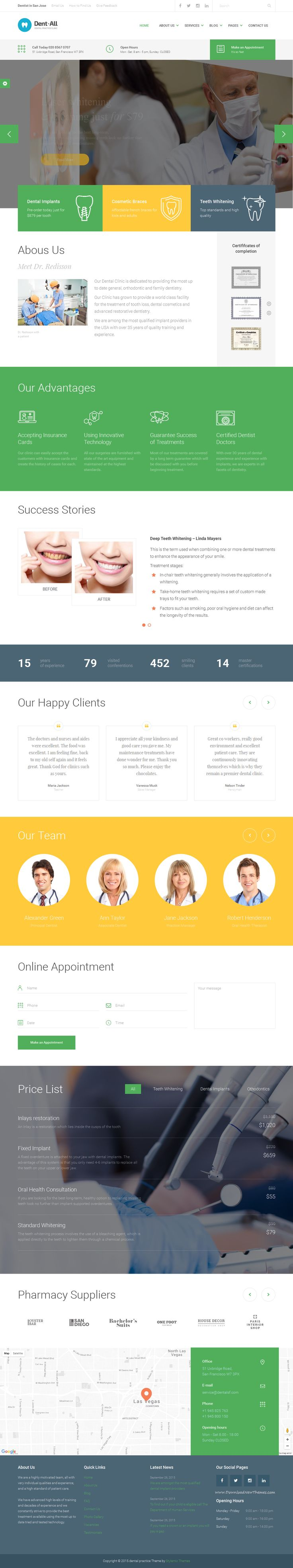 Dent-All is the only WordPress theme you need for Dental practice business. Dent-All has everything You need for a successful #website of your clinic, #hospital or for a personal #dentist' website.