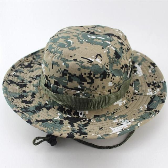 31a8a7cb808b2 SUMMER BUCKET HATS MILITARY CAMOUFLAGE HAT FOR MEN JUNGLE FISHERMEN HATS  WITH WIDE BRIM SUN HAT CAP FOR WOMEN MEN  MilitaryHatsForWomen