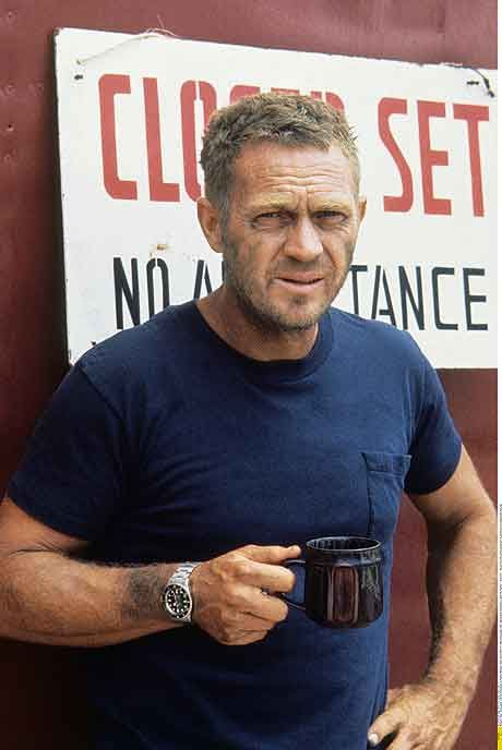 McQueen.  How a man wears a Rolex. I agree! One of the greatest actor! Love stile? follow http://everythingforguys.co.uk