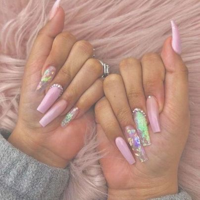 32 nail inspo coffin long 34  pink acrylic nails cute
