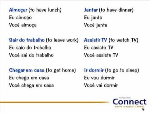 Talking about daily routines in Portuguese