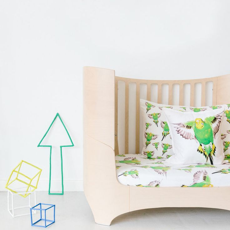 top3 by design - Dreamers Inc - beetle green cot fitted sheet