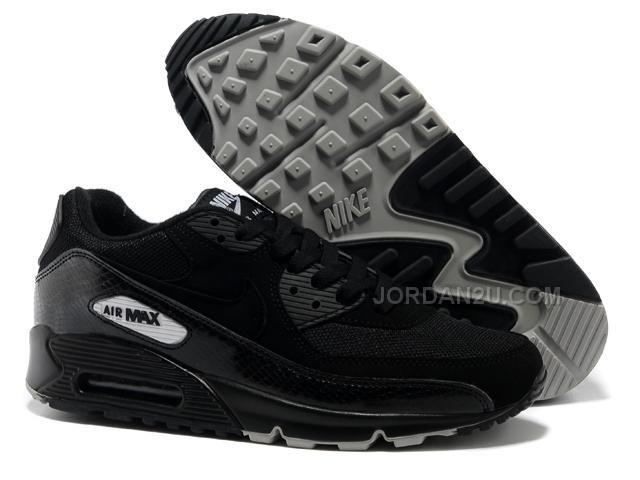 sale retailer 46059 8d5b7 Nike Air Max 90 Femme Chaussures Argent Noir 2008