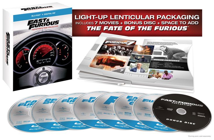 Amazon.com: Fast & Furious: The Ultimate Ride Collection [Blu-ray] 1-7: Vin Diesel, Paul Walker, Lucas Black, Tyrese Gibson, Bow Wow, Michelle Rodriguez, Eva Mendes, Nathalie Kelley, Dwayne 'The Rock' Johnson, Jordana Brewster, Chris 'Ludacris' Bridges, Brian Tee, Rick Yune, Cole Hauser, Sung Kang, John Ortiz, Ja Rule, James Remar, Leonardo Nam, Laz Alonso, Chad Lindberg, Thom Barry, Brian Goodman, Matt Schulze, Johnny Strong, Michael Ealy, Zachery Bryan, Gal Gadot, Djimon Hounsou, Mark…