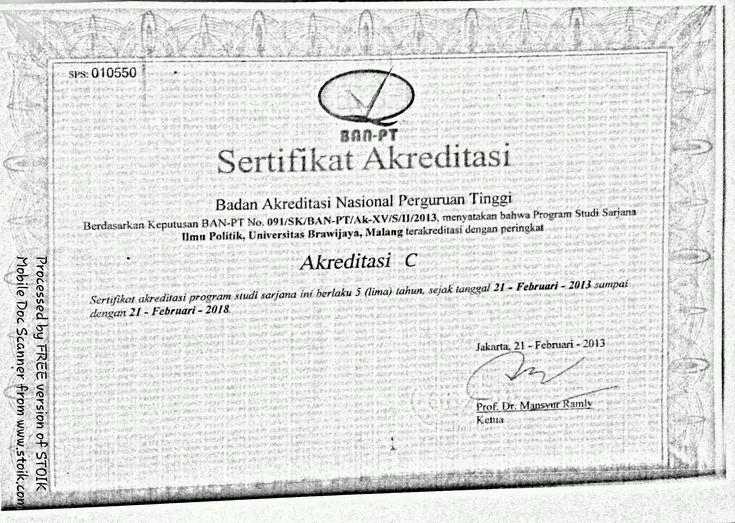 Contoh Sertifikat Akreditasi Dari Ban Pt Surat Guru Pengetahuan