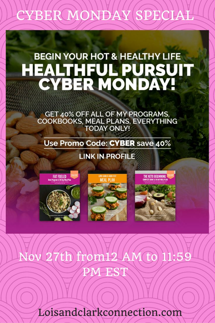 CYBER MONDAY DEALS! Keto Lifestyle meal plans and programs