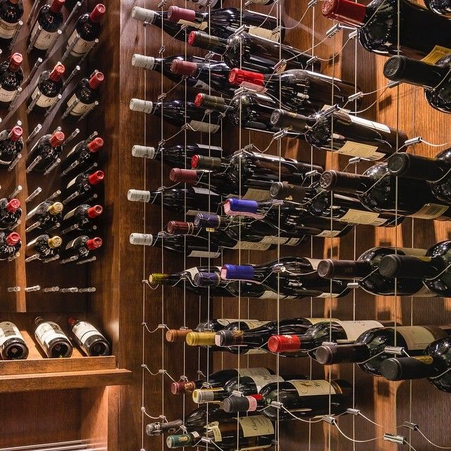Wine Display Gallery Cable Wine Systems Wine Display Wine Rack Design Wine Cellar Modern