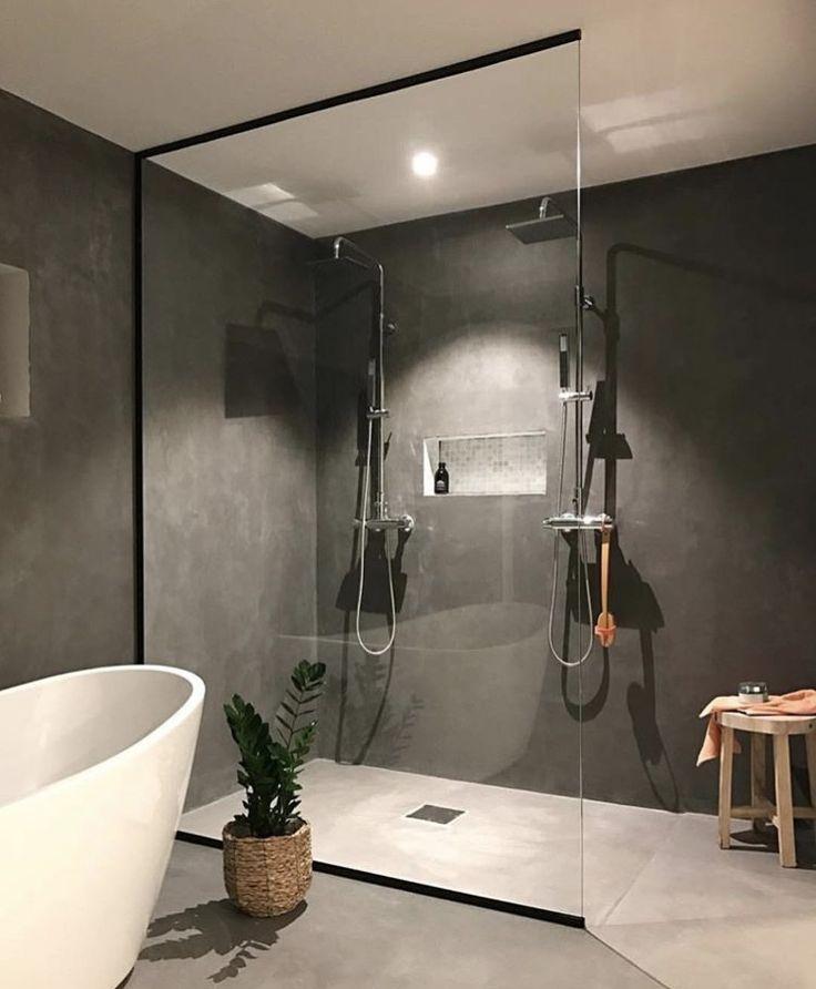 Betonlook design badkamer