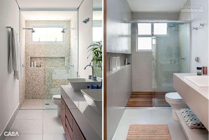 +1000 ideias sobre Nicho No Chuveiro no Pinterest  Ladrilho, Banheiro e Prat -> Banheiro Pequeno C Nicho