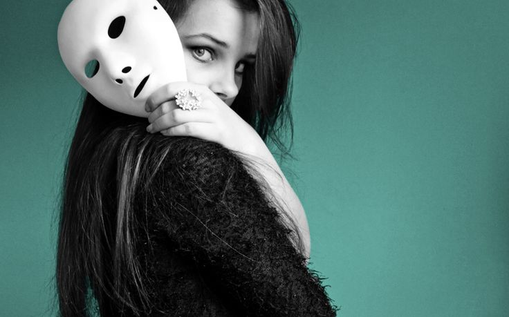 Girl with mask.