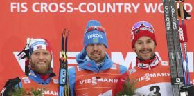 Alex Harvey earned his first podium finish of the cross-country skiing World Cup season, finishing third in the pursuit race...