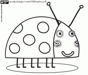 lady's hat coloring pages | ... the Ladybird, the best friend insect from Ben and Holly coloring page