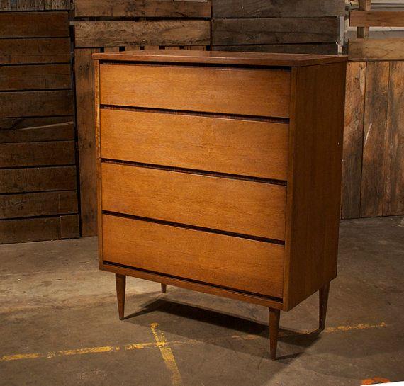Best Mid Century Danish Modern Bassett Tall Boy Dresser On Etsy 640 x 480